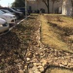 drainage swale, containment, swale, AirPave, Parking lot drainage, Aggregate Containment